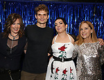 Kathy Valentine, Andrew Durand, Jane Wiedlin and Charlotte Caffey during the Broadway Opening Night Performance Actors' Equity Legacy Robe honoring Justin Prescott at the Hudson Theatre on July 26, 2018 in New York City.