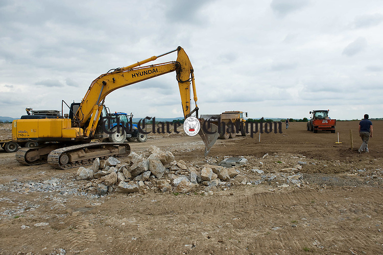 A view of work in progress at the New Clare GAA pitches in Tulla. Photograph by John Kelly.