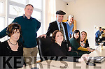 Pictured with Kerry TD Michael Healy Rae in their new offices at the Kenmare Innovative Centre in Kilmurry are (front to back left) Sean Jones (KIC Chief Executive), Brian Hurley (IT Manager) and right Caroline Cooney-Hurrell (Vice President Customer Contact Centre E.A.M.E.), Irene Santos (HR Director), Tara Maloney (HR Manager) and Laila Marinello-<br /> Desmond (Associate Director Sales &amp; Service).
