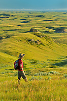 Hiking in grasslands<br />