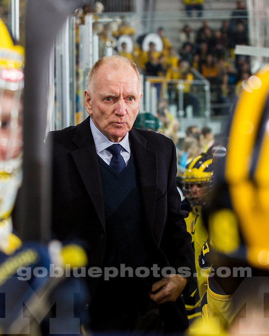 The University of Michigan ice hockey team beat Northern Michigan University, 6-2, to advance to the CCHA quarterfinals at Yost Arena in Ann Arbor, Mich., on March 9, 2013.