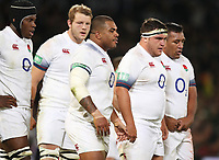 Kyle Sinckler with Jamie George and Mako Vunipola of England during the 2018 Castle Lager Incoming Series 2nd Test match between South Africa and England at the Toyota Stadium.Bloemfontein,South Africa. 16,06,2018 Photo by Steve Haag / stevehaagsports.com