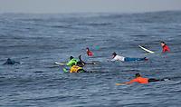 Competitors. Mavericks Surf Contest in Half Moon Bay, California on February 13th, 2010.
