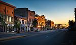 Xenia Ohio, Main St. sunset in  Greene Co.