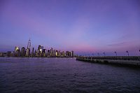 JERSEY CITY, NJ, 02.04.2017 - TURISMO-NEW YORK - Vista da Ilha de Manhattan em New York, a partir do Liberty State Park em Jersey City na tarde deste domingo, 02 (Foto: William Volcov/Brazil Photo Press)