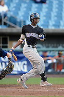 Nick Gordon (83) of Olympia High School in Windermere, Florida playing for the Colorado Rockies scout team during the East Coast Pro Showcase on August 1, 2013 at NBT Bank Stadium in Syracuse, New York.  (Mike Janes/Four Seam Images)