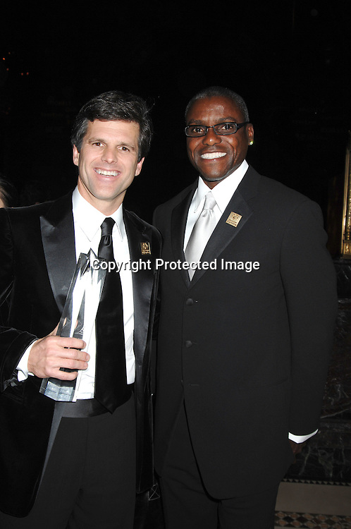 Timothy Shriver and Carl Lewis..at The Fashion Group International 's Night of Stars Gala ..on October 26, 2006 at Cipriani 42nd Street. ..Robin Platzer, Twin Images