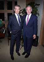 BEVERLY HILLS, CA - MAY 30: Pierce Brosnan, Senator Ed Markey, at Reception Honoring Massachusetts Senator Ed Markey Hosted by Keely &amp; Pierce Brosnan and Daphna Edwards Ziman at Private Residence in Beverly Hills, California on May 30, 2018. <br /> CAP/MPIFS<br /> &copy;MPIFS/Capital Pictures