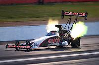 May 13, 2016; Commerce, GA, USA; NHRA top fuel driver Steve Torrence during qualifying for the Southern Nationals at Atlanta Dragway. Mandatory Credit: Mark J. Rebilas-USA TODAY Sports
