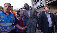07/10/2012 Magic Johnson Camp Nou Barcelona (MRPIXX/NortePhoto)