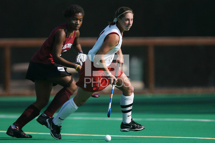 6 November 2007: Stanford Cardinal Jessica Zutz during Stanford's 1-0 win against the Lock Haven Lady Eagles in an NCAA play-in game to advance to the NCAA tournament at the Varsity Field Hockey Turf in Stanford, CA.