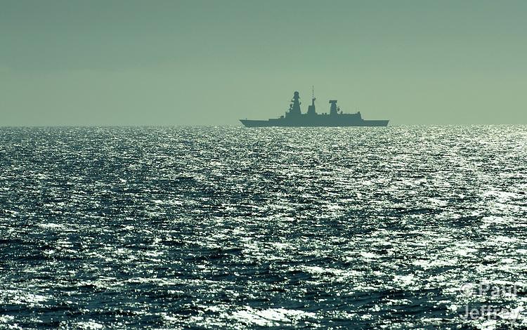 A NATO ship off the coast of Libya, near the port city of Misrata.