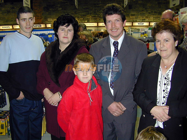Joey Devine, Martina, Paul and Patrick Fulham and Vera Devine at the official opening of Eddies Hardware..Picture Paul Mohan Newsfile