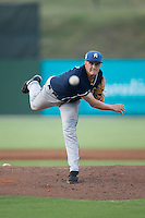 Asheville Tourists starting pitcher Ryan Castellani (6) delivers a pitch to the plate against the Kannapolis Intimidators at Intimidators Stadium on June 25, 2015 in Kannapolis, North Carolina.  The Intimidators defeated the Tourists 9-8.  (Brian Westerholt/Four Seam Images)