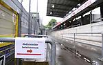 """FussballFussball: agnph001:  1. Bundesliga Saison 2019/2020 27. Spieltag 23.05.2020<br />SC Freiburg - SV Werder Bremen<br />Ein Schild mit der Aufschrift """"Medizinischer Isolationsraum"""" im Schwarzwald Stadion vor dem Spiel.<br />FOTO: Markus Ulmer/Pressefoto Ulmer/ /Pool/gumzmedia/nordphoto<br /><br />Nur fŸr journalistische Zwecke! Only for editorial use! <br />No commercial usage!"""
