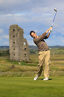 Roy Connolly (Palmerstown Stud) on the 13th tee during Round 2 of The South of Ireland in Lahinch Golf Club on Sunday 27th July 2014.<br /> Picture:  Thos Caffrey / www.golffile.ie