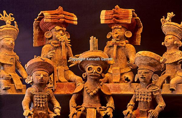 Maya; Copan; Honduras, Scribe's tomb, incensario, effigy figures