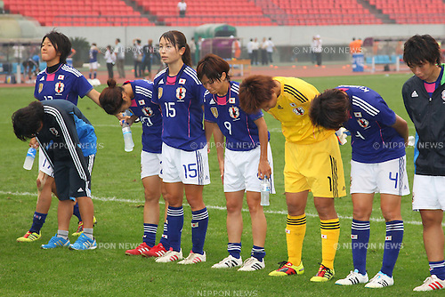 Women's Japan National Team Group (JPN), September 8, 2011 - Football / Soccer : Women's Asian Football Qualifiers Final Round for London Olympic Match between Japan 1-1 North Korea at Shandong Provincial Stadium, Jinan, China. (Photo by Daiju Kitamura/AFLO SPORT) [1045]