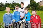 Donagh McMahon, Jake Myers, David Williams, Brian Doherty and Ethan Dobbin pictured at the PPUI (Pitch & Putt Union of Ireland) Summer camp at the Tralee Pitch and Putt club on Tuesday.