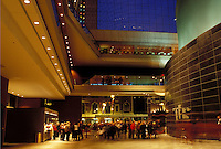 PA, Philadelphia, Pennsylvania, Interior of the Kimmel Center for the Performing Arts in downtown Philadelphia.