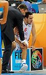 "Vasilije Micic of Serbia during European basketball championship ""Eurobasket 2013""  basketball game for 7th place between Serbia and Italy in Stozice Arena in Ljubljana, Slovenia, on September 21. 2013. (credit: Pedja Milosavljevic  / thepedja@gmail.com / +381641260959)"