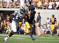 Saturday, September 7, 2013: Bryce Treggs catches the ball during a game against Portland State at Memorial Stadium, Berkeley, California - California defeated Portland State 37 - 30