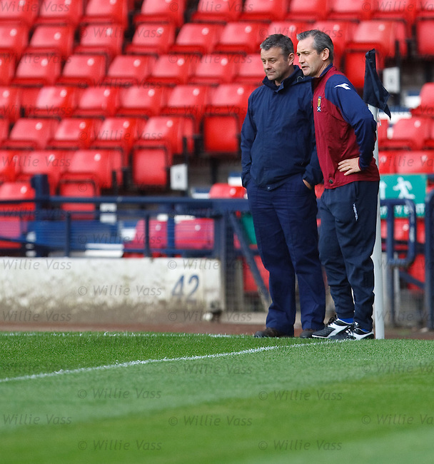George Burley chats to Hampden head groundsman about the state of the pitch