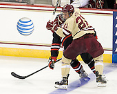 Steven Whitney (BC - 21) - The Boston College Eagles defeated the visiting Northeastern University Huskies 3-0 after a banner-raising ceremony for BC's 2012 national championship on Saturday, October 20, 2012, at Kelley Rink in Conte Forum in Chestnut Hill, Massachusetts.