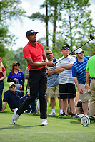Tony Finau (USA) watches his tee shot on 11 during round 3 of the Shell Houston Open, Golf Club of Houston, Houston, Texas, USA. 4/1/2017.<br /> Picture: Golffile | Ken Murray<br /> <br /> <br /> All photo usage must carry mandatory copyright credit (&copy; Golffile | Ken Murray)