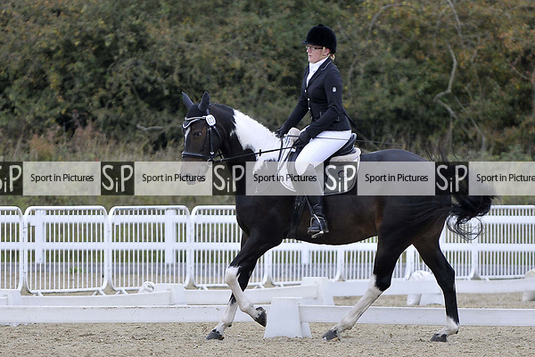 Class 5. Unaffiliated Dressage. Brook Farm training centre. Essex. 30/09/2017. MANDATORY Credit Garry Bowden/Sportinpictures - NO UNAUTHORISED USE - 07837 394578