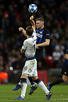 Harry Kane of Tottenham Hotspur and Milan Skriniar of Internazionale during Tottenham Hotspur vs Inter Milan, UEFA Champions League Football at Wembley Stadium on 28th November 2018
