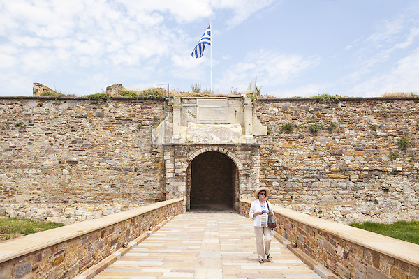 Tourist visiting the Byzantine Castle in the town of Chios, Chios, Greece  <br /> CAP/MEL<br /> &copy;MEL/Capital Pictures /MediaPunch ***NORTH AND SOUTH AMERICA ONLY***