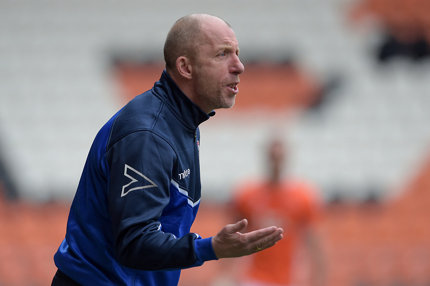Accrington Stanley manager John Coleman <br /> <br /> Photographer Terry Donnelly/CameraSport<br /> <br /> The EFL Sky Bet League Two - Blackpool v Accrington Stanley - Friday 14th April 2017 - Bloomfield Road - Blackpool<br /> <br /> World Copyright &copy; 2017 CameraSport. All rights reserved. 43 Linden Ave. Countesthorpe. Leicester. England. LE8 5PG - Tel: +44 (0) 116 277 4147 - admin@camerasport.com - www.camerasport.com