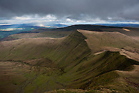 view towards Cribyn, Brecon Beacons national park, Wales