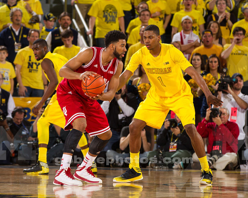 The University of Michigan men's basketball team lost to No. 2 Indiana, 72-71, at Crisler Center in Ann Arbor, Mich., March 10, 2013.