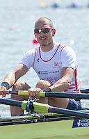 Brandenburg. GERMANY. GBR M4-. Mo SBIHI,  <br /> 2016 European Rowing Championships at the Regattastrecke Beetzsee<br /> <br /> Friday  06/05/2016<br /> <br /> [Mandatory Credit; Peter SPURRIER/Intersport-images]