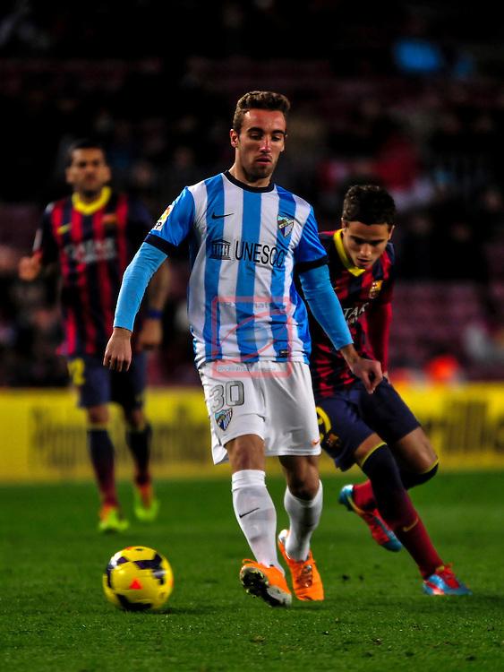 League BBVA 2013/2014 - Game: 21.<br /> FC Barcelona vs Malaga CF: 3-0.<br /> Darder vs Affelay.