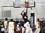 Alabama A&M Bulldogs guard/forward Casey Cantey (4) in action during the SWAC Tournament game between the Alabama State Hornets and the  Alabama A&M Bulldogs at the Special Events Center in Garland, Texas. Alabama State Hornets defeat Alabama A&M Bulldogs 81 to 61