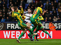Bolton Wanderers' Luke Murphy shoots under pressure<br /> <br /> Photographer Andrew Kearns/CameraSport<br /> <br /> The EFL Sky Bet Championship - Bolton Wanderers v West Bromwich Albion - Monday 21st January 2019 - University of Bolton Stadium - Bolton<br /> <br /> World Copyright © 2019 CameraSport. All rights reserved. 43 Linden Ave. Countesthorpe. Leicester. England. LE8 5PG - Tel: +44 (0) 116 277 4147 - admin@camerasport.com - www.camerasport.com