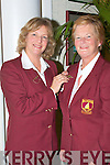 PINNED: Dori Cotter outgoing Lady Captain of Ballybunion Golf Club puts the pin of office on Marian Flannery the incoming Lady Captain for 2009 at the Ladies AGM in Ballybunion Golf Club on Friday night.   Copyright Kerry's Eye 2008