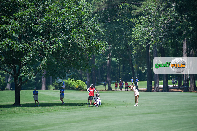 Michelle Wie (USA) hits her approach shot on 2 during round 4 of the U.S. Women's Open Championship, Shoal Creek Country Club, at Birmingham, Alabama, USA. 6/3/2018.<br /> Picture: Golffile | Ken Murray<br /> <br /> All photo usage must carry mandatory copyright credit (© Golffile | Ken Murray)