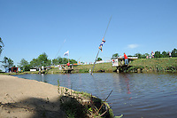FIERLJEPPEN: JOURE: Accommodatie Koarte Ekers, Fierljepvereniging De Lege Wâlden Joure, 26-05-2012, 1e Klas wedstrijd, overzicht fierljepschansen, ©foto Martin de Jong