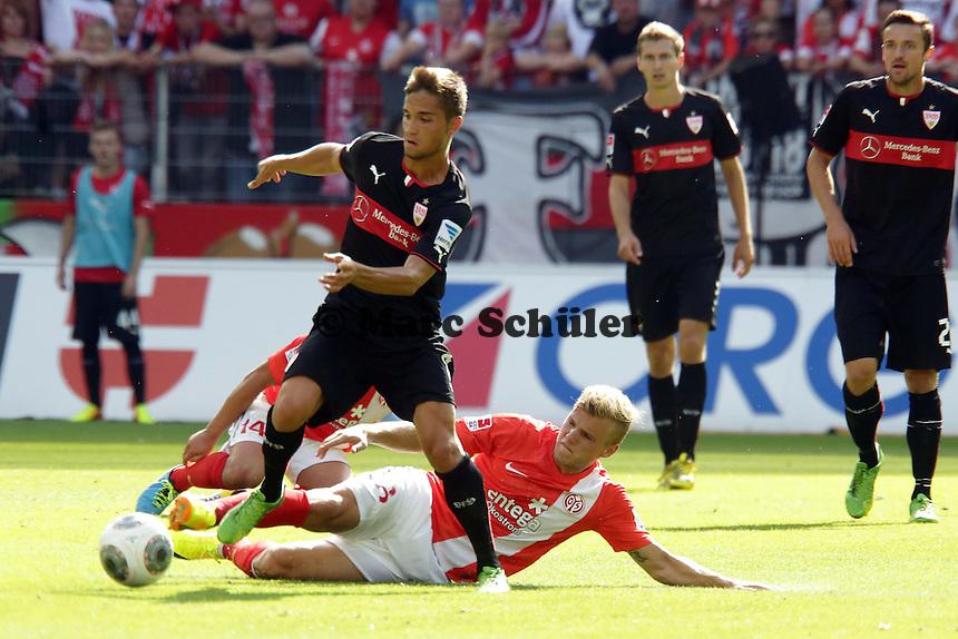 Moritz Leitner (VfB) gegen Maximilian Geis (Mainz) - Mainz 05 vs. VfB Stuttgart