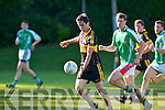 In Action Currow Vs St. Brendans in the Kerry Senior County Football Championship Round 2 at Currow GAA field on Friday