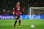 UEFA Champions League 2013/2014.<br /> Quarter-finals 1st leg.<br /> FC Barcelona vs Club Atletico de Madrid: 1-1.<br /> Jordi Alba