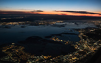 Another view from an early morning flight into SFO:  the South Bay.