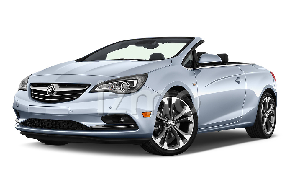 Stock pictures of low aggressive front three quarter view of 2016 Buick Cascada Premium 2 Door Convertible Low Aggressive