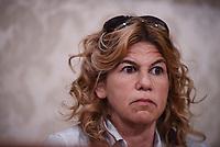 Roma, 3 Aprile 2017<br /> avvocata della famiglia Regeni Alessandra Ballerini.<br /> Conferenza stampa al Senato della famiglia di Giulio Regeni, il giovane ricercatore scomparso e trovato morto con evidenti segni di torture in Egitto a febbraio del 2016