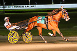 AUGUST 31, 2019 :  Gimpanzee driven by Brian Sears , wins the $500,000 Yonkers Trot for 3 year olds, at Yonkers Raceway, on August 31, 2019 in Yonkers, NY.  Sue Kawczynski_ESW_CSM