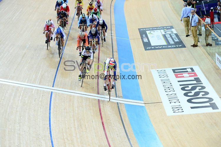 Picture by Richard Blaxall/SWpix.com - 14/04/2017 - Cycling - 2017 UCI Track Cycling World Championships - Hong Kong Velodrome, Tseung Kwan O, Hong Kong - the,brief,marketing,tissot,santini,tacx,shimano,